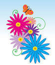 Free Flying Butterfly In Flowers Stock Photo - 7860250