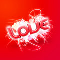 Free 3D Illustration Of The Word Love Red Stock Photography - 7861952