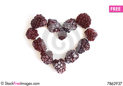 Free Heart From The Frozen Blackberry Royalty Free Stock Photography - 7862937