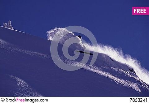 Powder day Stock Photo