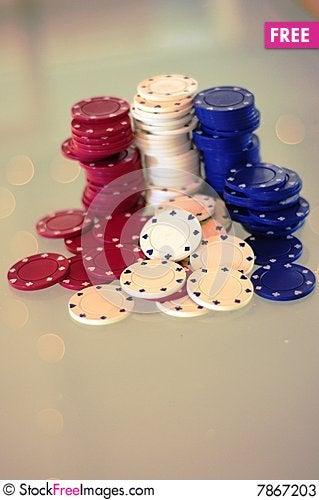 Poker Chips 2 Stock Photo
