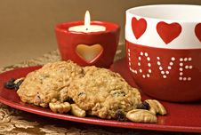Free Valentine Cookies Royalty Free Stock Photos - 7860568