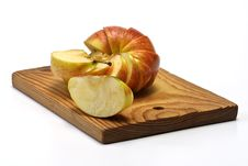 Free Section Apple On Plate Stock Photos - 7860723