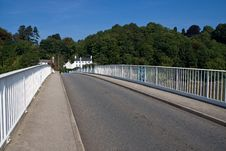 Free Iron Bridge Over River Wye Stock Image - 7860751