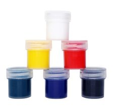 Free Multicolored Paints Royalty Free Stock Image - 7860796