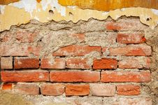 Old Plastered Brick Wall