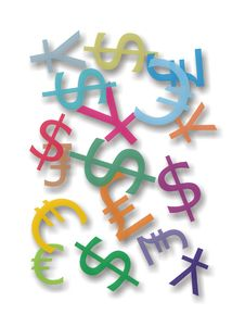 Free Money Symbols Stock Photo - 7861640