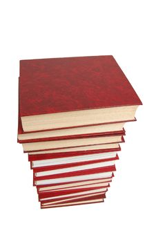 Stack Of The Red Books Stock Photography