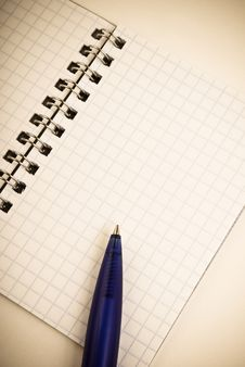 Free Notebook With Pen Stock Photos - 7862473