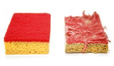 Before After Sponges Stock Photography
