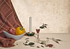 Free Still Life With Candle Royalty Free Stock Photo - 7864275