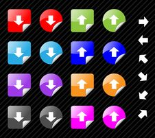 Free Sticky Icons With Arrows. Royalty Free Stock Photo - 7864355
