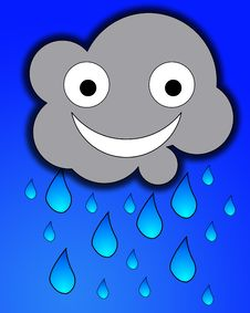 Free Happy Rain Cloud Royalty Free Stock Photos - 7865398