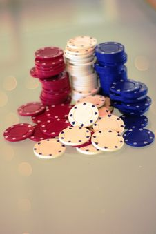 Free Poker Chips 2 Stock Photos - 7867203