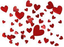 Free Raining Hearts Royalty Free Stock Photos - 7867528