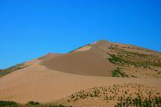 Desert Mountain In Qinghai Lake Stock Photo