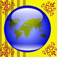 Free Globe Background Stock Image - 7867741