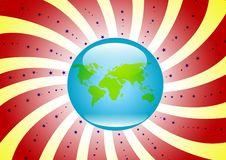 Free Retro Globe Background Royalty Free Stock Image - 7867746