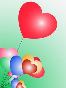 Free Heart Balloons Royalty Free Stock Photography - 7867887