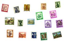 Free Austrian Stamps Royalty Free Stock Images - 7868639