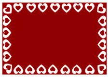 Free The Frame Of Red Hearts. Stock Image - 7868651