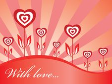 Free Wallpaper With Hearts Stock Image - 7868931