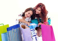 Free Happy Shopping Girl Royalty Free Stock Photography - 7868997