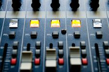 Free Sound Mixing Console Stock Photo - 7869070