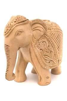 Free Wooden Elephant Sculpture Royalty Free Stock Images - 7869289