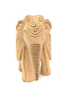 Free Wooden Elephant Sculpture Royalty Free Stock Photo - 7869325
