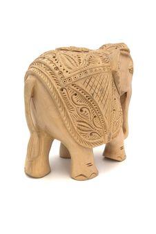 Free Wooden Elephant Sculpture Stock Photos - 7869343