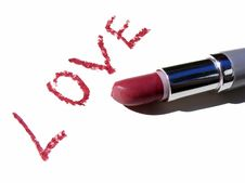 Free Red Lipstick And Inscription Royalty Free Stock Image - 7869576