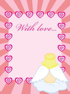 Free Valentine Card With Baby Angel Stock Photography - 7869962