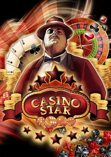 Casino Star Royalty Free Stock Photos