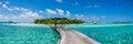 Free Amazing Beautiful Tropical Island Panorama At Maldives Royalty Free Stock Photography - 78665737