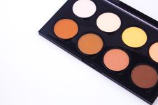 Makeup Palette And Tools On A White Background Royalty Free Stock Photos