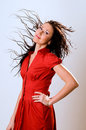 Free The Woman  With Flying Hair Stock Images - 7873084