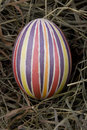 Free Colored Easter Egg In The Nest Royalty Free Stock Photos - 7873938