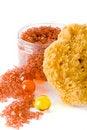 Free Natural Sponge, Bath Salt And Oil Balls Stock Image - 7875231