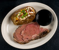 Free Steak And A Baked Potato Royalty Free Stock Images - 7875359
