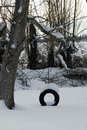 Free Snow Tire Swing Royalty Free Stock Photography - 7877037