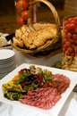 Free Gourmet Plate Of Meats And Olives Stock Images - 7877194