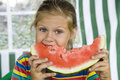 Free Girl With Watermelon Stock Images - 7878784
