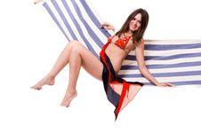 Free Sexy Girl Wearing Red Bikini Royalty Free Stock Photo - 7870405