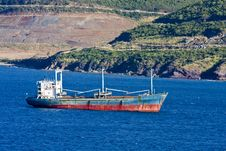 Free Empty Freighter Off Coast Stock Photos - 7870423
