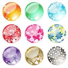 Free Decorative Balls Set Stock Image - 7871011