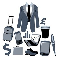 Free Bussiness Man Accessories Set Stock Images - 7871324