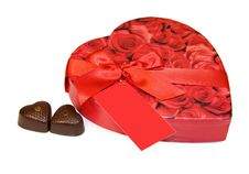 Free Heart Box Of Chocolates Isolated On White Royalty Free Stock Image - 7872006