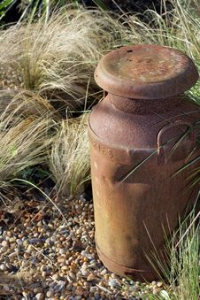 Free Rusty Milk Churn Stock Photo - 7872190