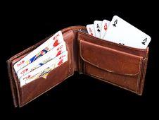 Free Gambling Wallet Stock Image - 7872261